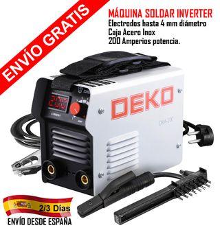 MAQUINA SOLDAR INVERTER ARCO ELÉCTRICO 200 Amp.