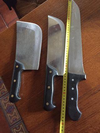 lote machete cuchillos de carnicería
