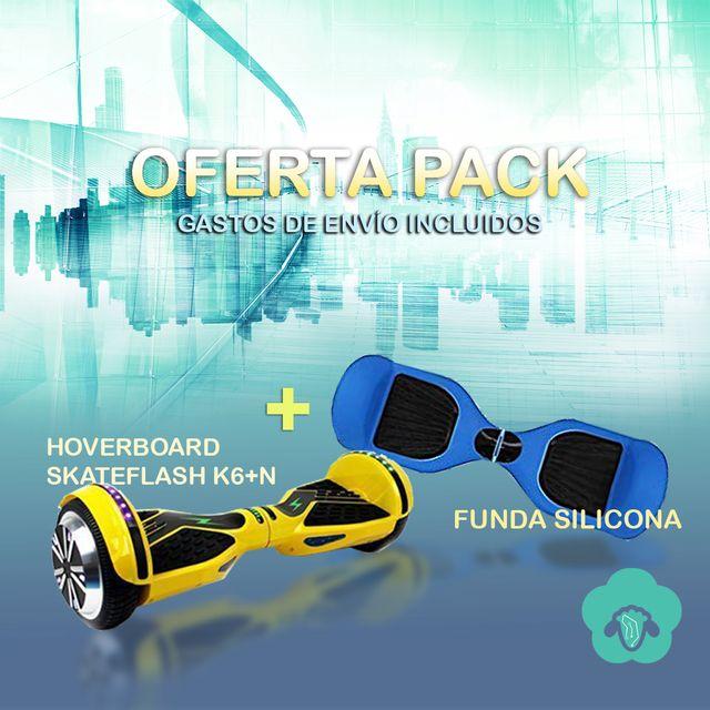 HOVERBOARD SKATEFLASH +FUNDA SILICONA