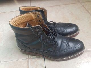 Botas negras de piel hombre Cortefiel