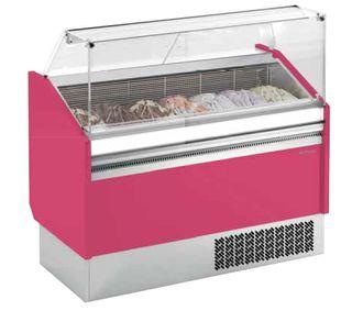 Vitrina expositora de helados frío estático