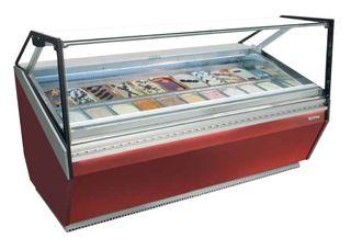 Vitrina expositora de helados