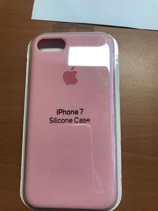 Funda silicona case iPhone 7 rosa