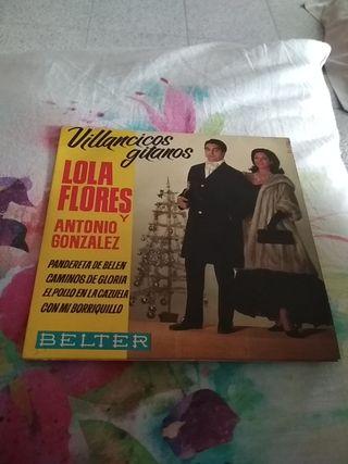 disco vinilo Villancicos Lola Flores Antonio Gonzá