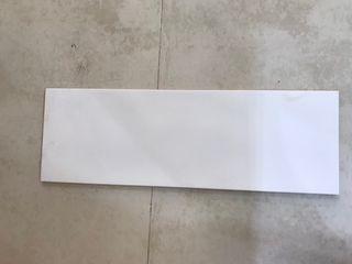 6.68m2 Azulejo cotton blanco de 25x75cm
