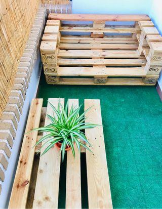 Conjunto de jardín (sofá palets)
