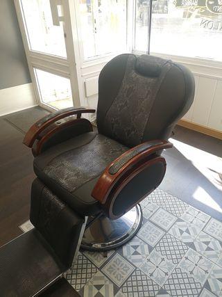 sillón barbero peluquería