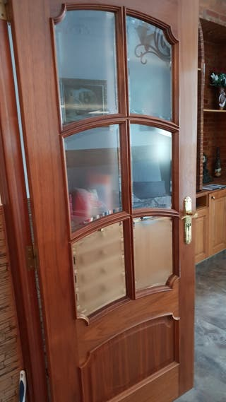 lote puertas de madera maciza