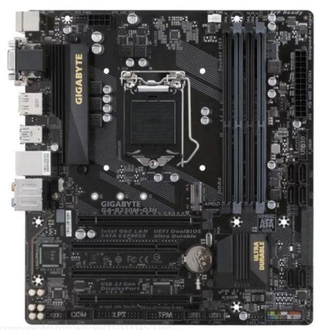 Placa Base Gigabyte GA-B250M-D3H, LGA 1151, DDR4