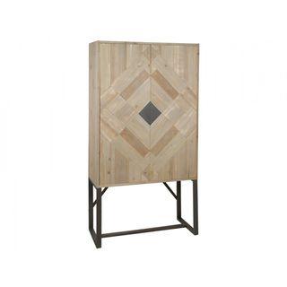 Vitrina madera 2 puertas