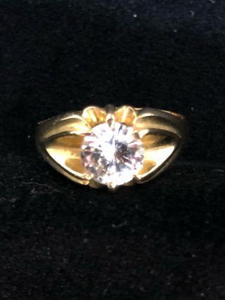 Sortija anillo solitario oro 18 kilates