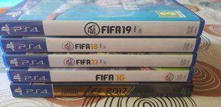 F1 2017, FIFA 16, FIFA 17, FIFA 18, FIFA 19