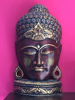 Escultura madera Buda