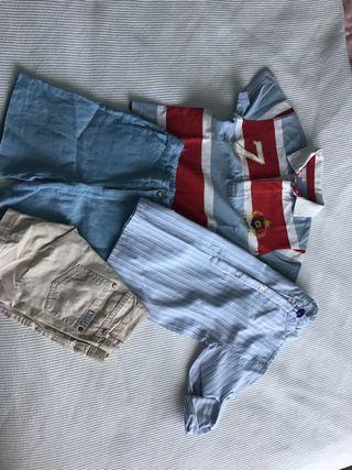 Conjunto 2 pantalones cortos lino GOCCO