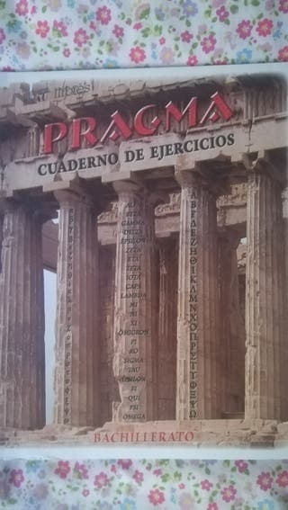 Libro de griego PRAGMA, bachillerato