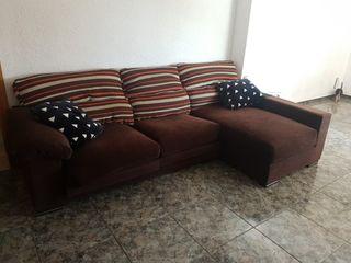 sofá chaos long marron