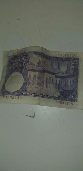 billete 25 pesetas 1954