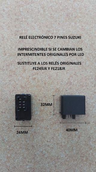 rele electrónico intermitentes led Suzuki 7 pines