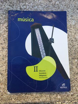 Libro de música editorial editex 2º