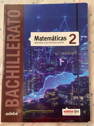 Libro Matemáticas 2bachillerato edebé