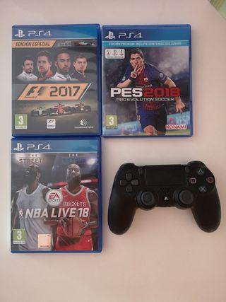 mando ps4 y 3 juegos