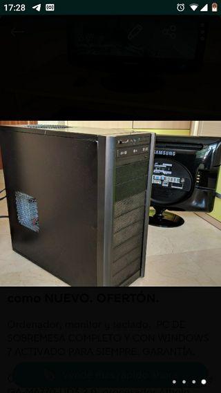 Ordenador PC de sobremesa + MONITOR TV CON MANDO +