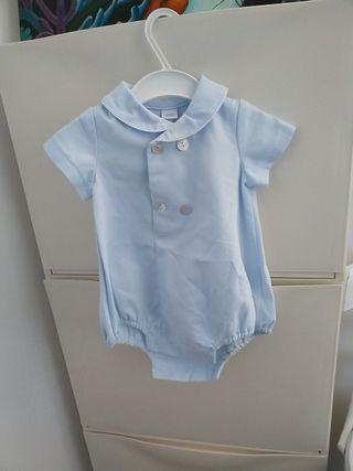 Pelele azul bebé 3 meses