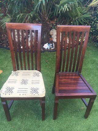 4 sillas comedor madera maciza