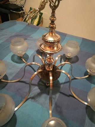 lámpara de techo con 8 brazos
