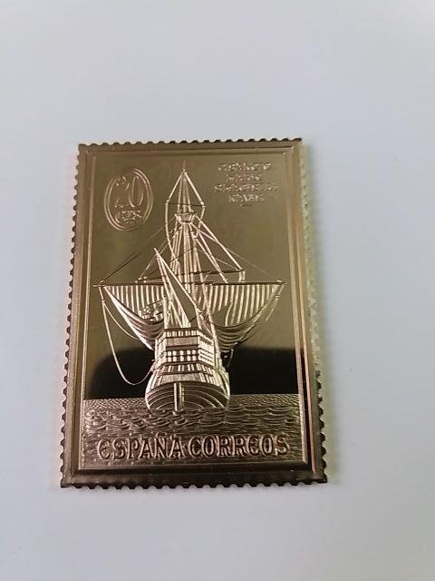Colección de sellos encuentro de dos mundos.