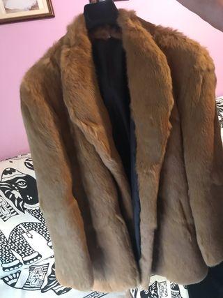 Abrigo de pelo de camello mujer