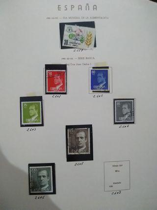 sellos de España ecuador Argentina ....