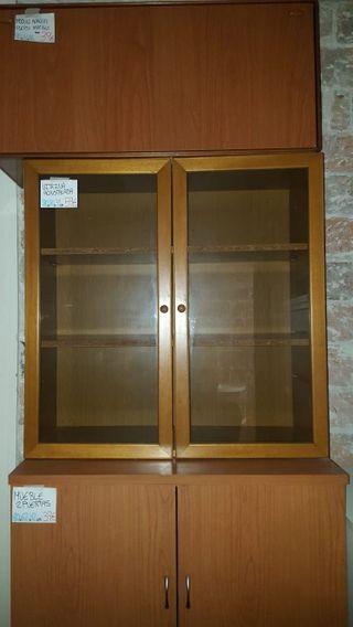 vitrina de 2 puertas color cerezo