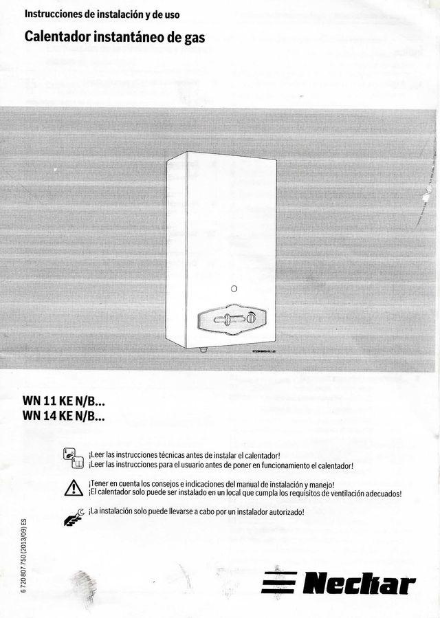 Calentador Neckar WN 14