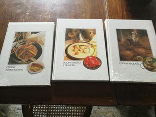 Lote 3 tomos de libros de cocina
