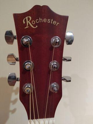 Guitarra electroacústica Rochester + Funda + Pie