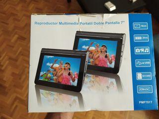 reproductor dvd portatil, para coche