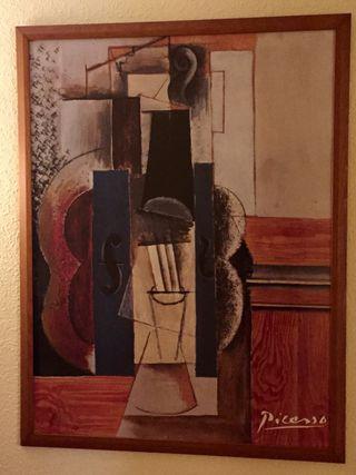 Cuadro Picasso con cuadro y cristal