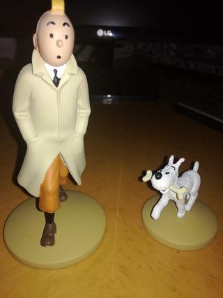 Figuras Tintín y Milú