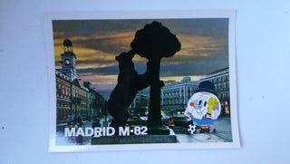 Postal Mundial fútbol 82 Madrid