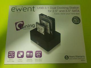 Estación clonador dual de Discos Duros SATA