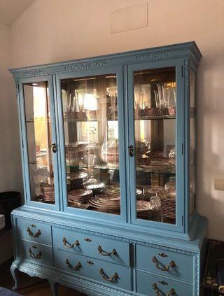 Vitrina mueble restaurado vintage