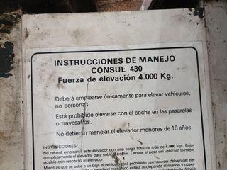 Elevador 4 columnas 4000kg