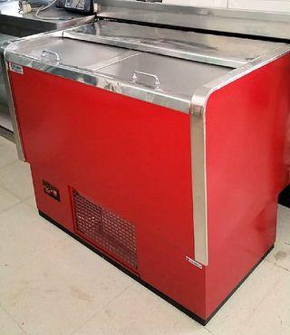 botellero 1000mm rojo 2 puertas