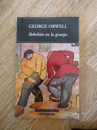 Libro Rebelión en la granja. George Orwell.
