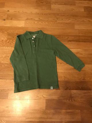 Polo verde manga larga talla 6 años