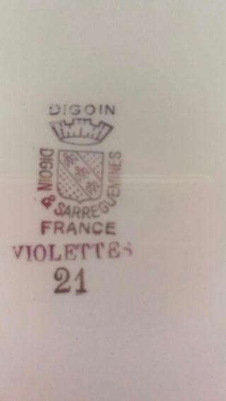 """VAJILLA FRANCESA """"DIGOIN&SARREGUEMINES"""" antigua"""