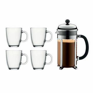 Set Bodum Chambord Cafetera + 4 tazas
