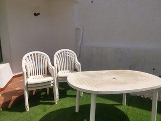 Mesa exterior de plastico + 6 sillas TELDE