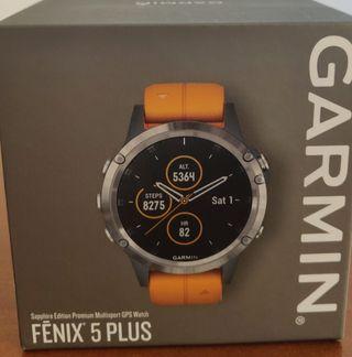 Garmin Fenix 5 plus Titanio y Zafiro. Nuevo.
